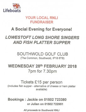 RNLI Fish Supper Poster